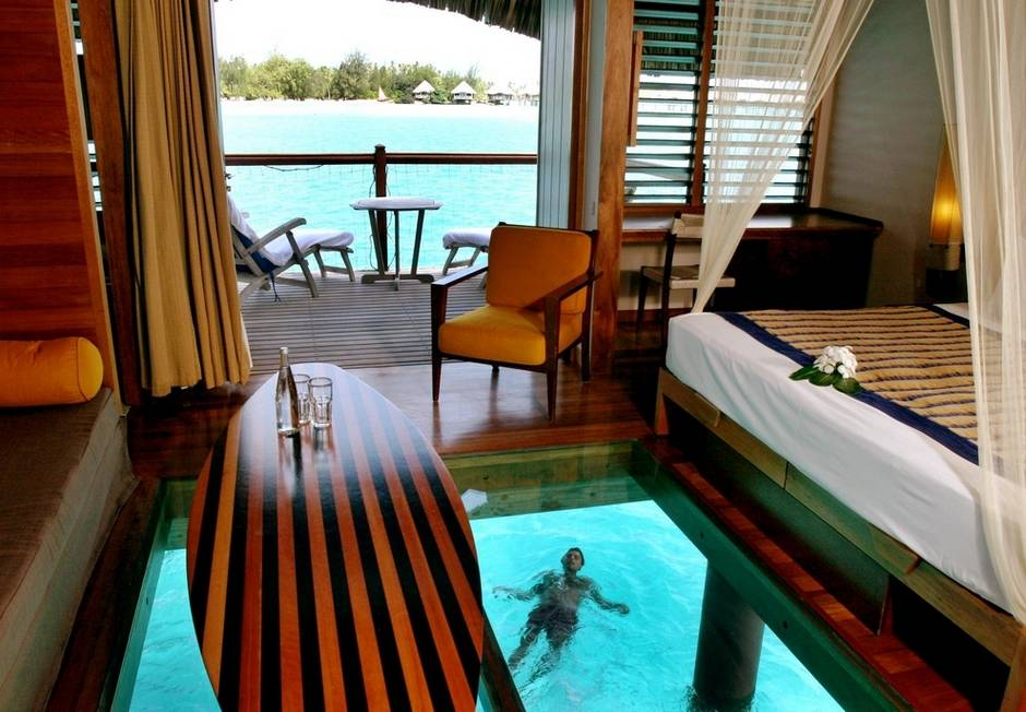 The Over Water Bungalow at Le Meridien in Bora Bora
