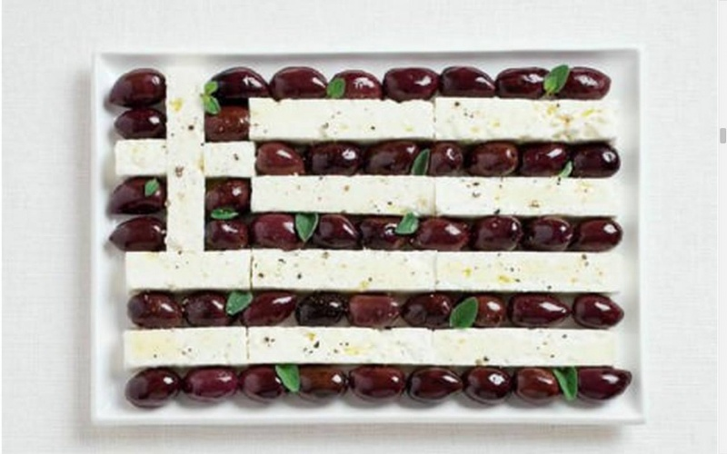 food flag greece