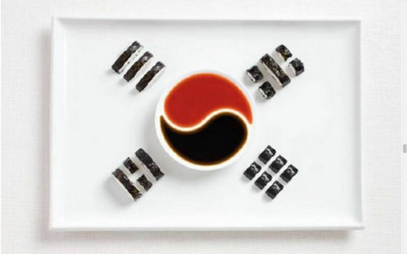 food flag south korea