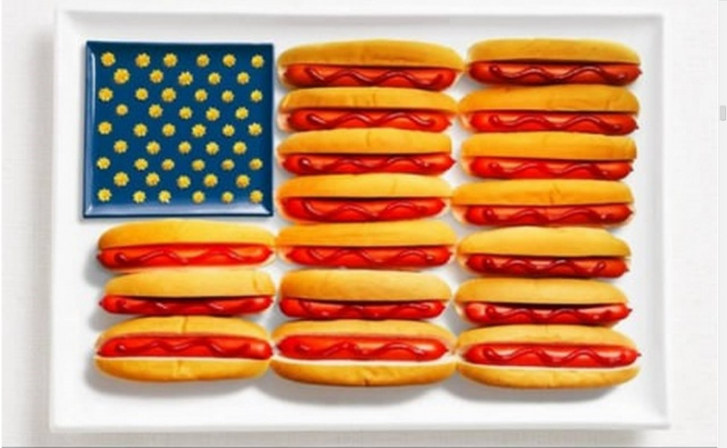 food flag united states