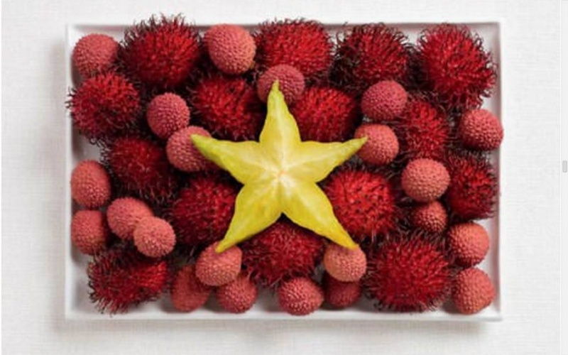 food flag vietnam