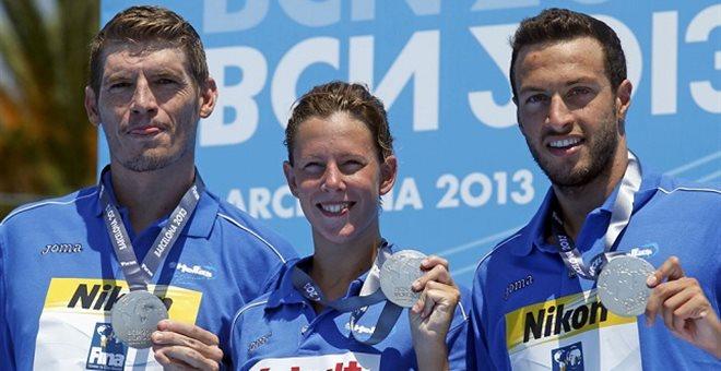 Ασημένιο μετάλλιο στα 5.000 μέτρα του ομαδικού ανοιχτής θαλάσσης