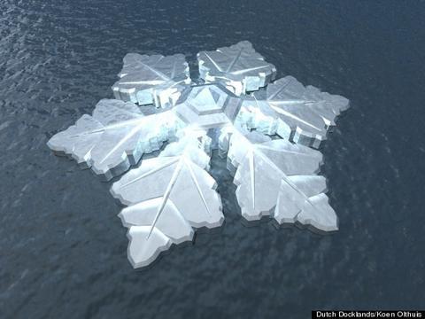 Το πρώτο πλωτό ξενοδοχειο-νυφάδα του χιονιού στο κόσμο