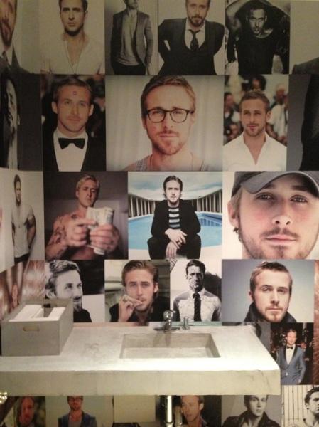 Ένα μπάνιο αφιερωμένο στο Ryan Gosling (εικόνες)