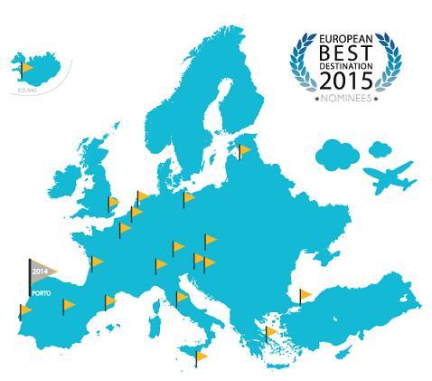 Ποιος είναι ο καλύτερος ευρωπαϊκός προορισμός για το 2015; Ψηφίστε Αθήνα!