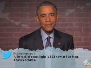 Ο Μπ. Ομπάμα διαβάζει «σκληρά» tweets (Βίντεο)